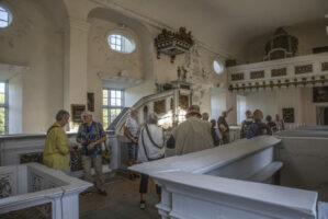 Interiör från slottkapellet på Kragehol m