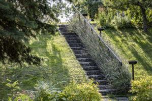 Trappa i Sveriges äldsta koloniträdgård